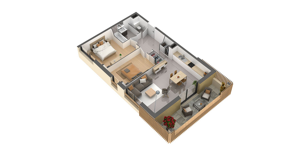 Résidence Carré Lumière - Vue d'un appartement T3