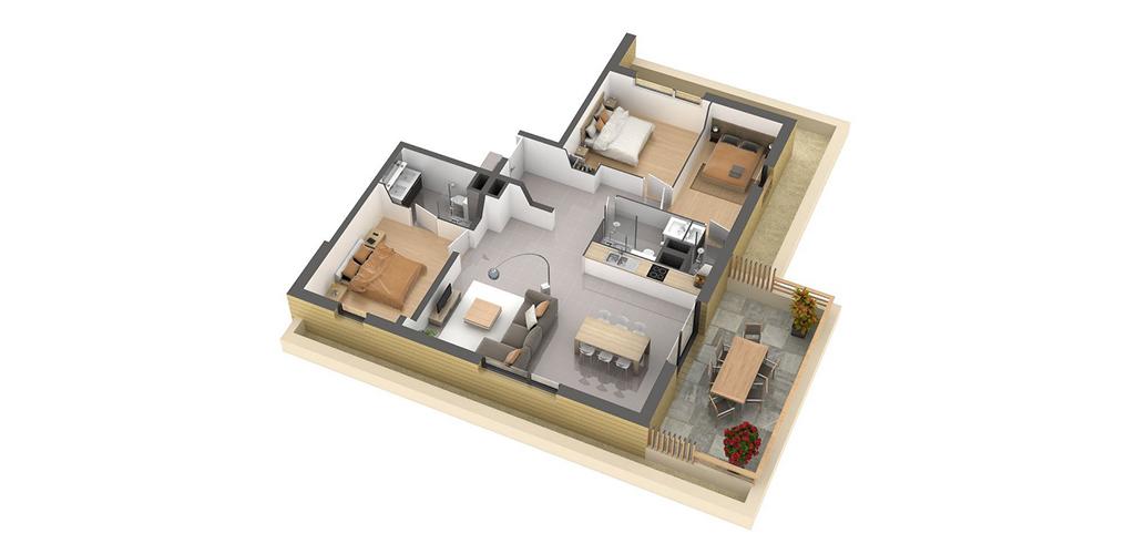 Résidence Carré Lumière - Vue d'un appartement T4